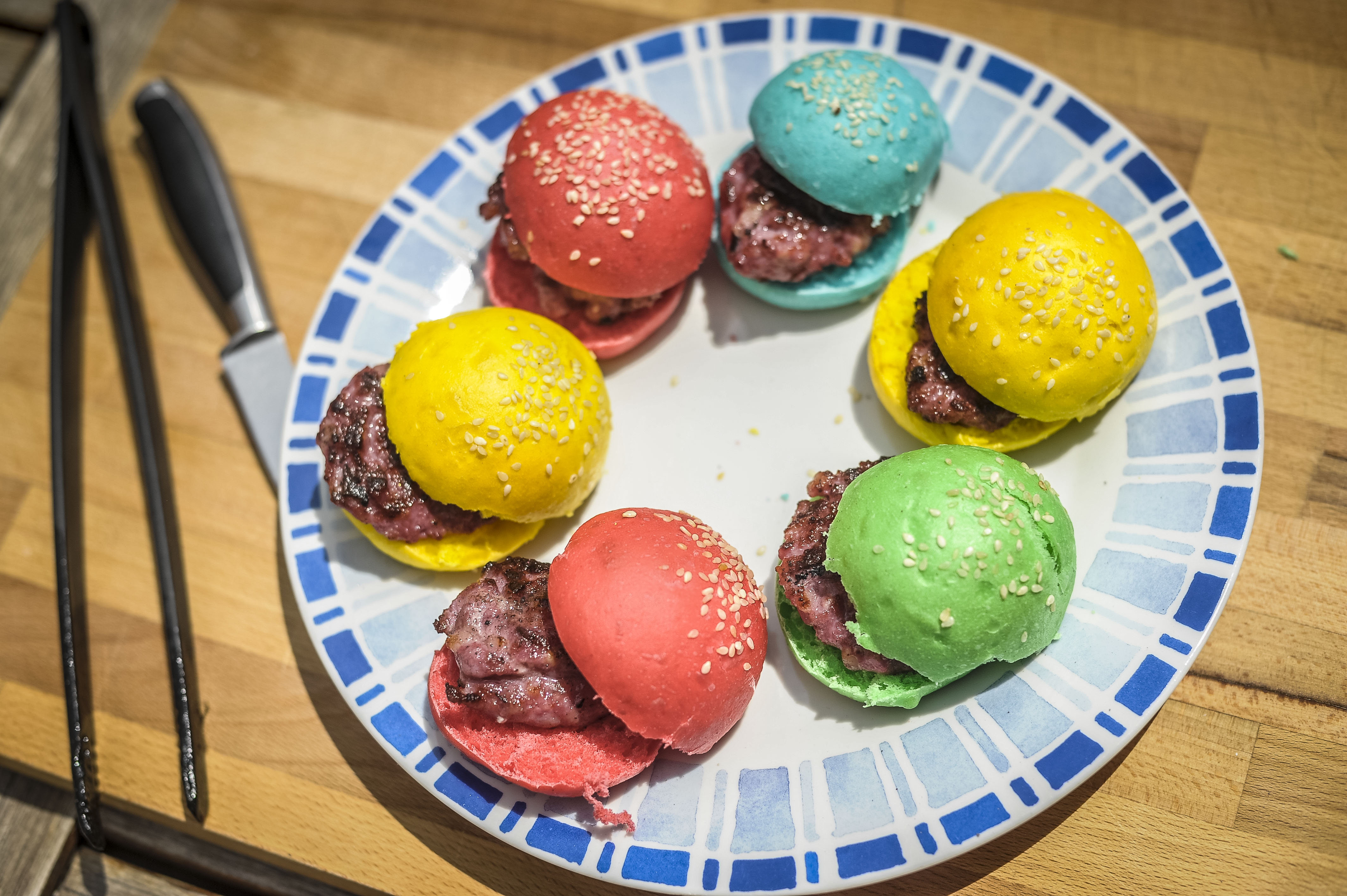 Mini Hamburguesas ColorFull